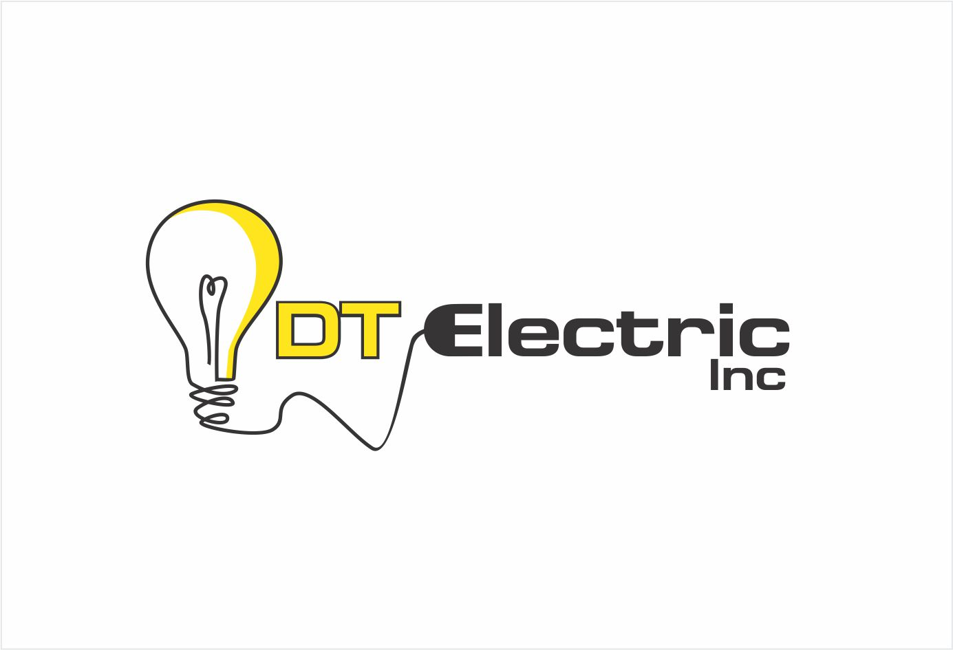 Contractor Logo Design For Dt Electric Inc By Hih7