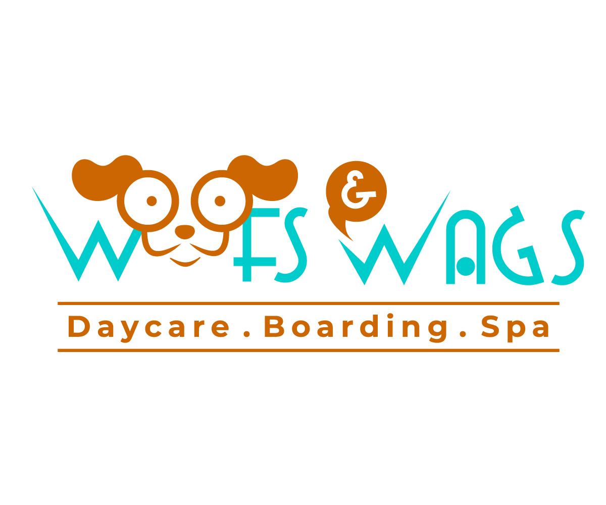 Playful, Modern, Daycare Logo Design For Woofs & Wags By