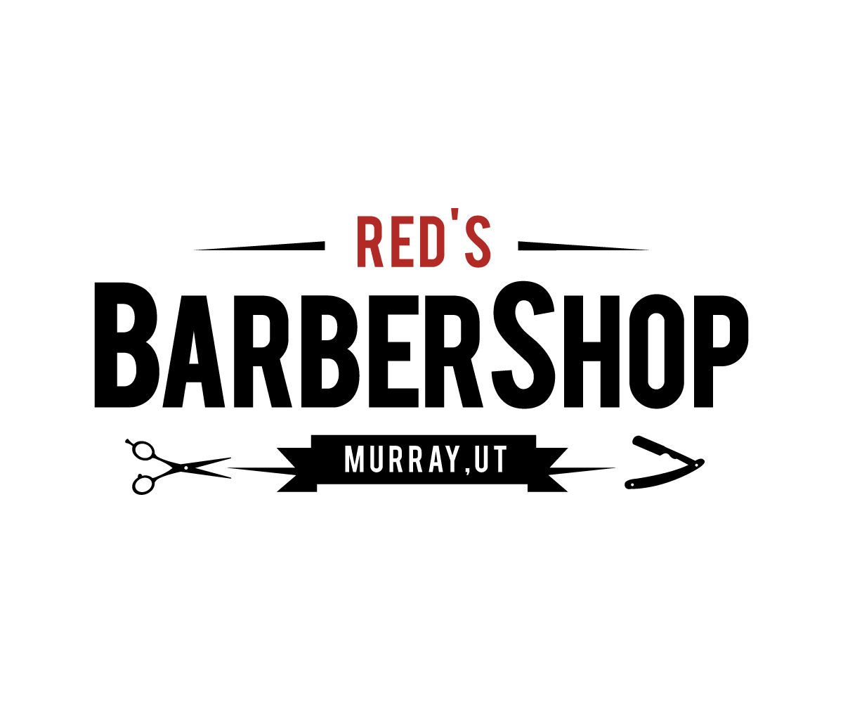Masculine Bold Barber Logo Design For Red S Barber Shop