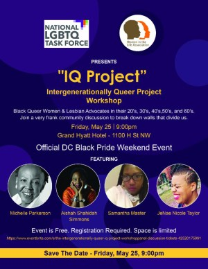 The Intergenerationally Queer (IQ) Project Workshop/Panel Discussion