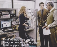 LOIS LANE, CLARK KENT AND PERRY WHITE - WITH A QUOTE FROM ZACK SNYDER