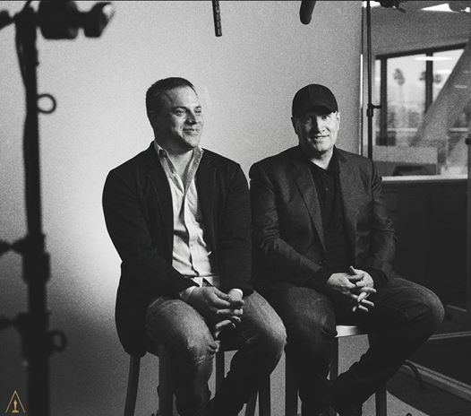 Geoff Johns with Kevin Feige DC Comics News