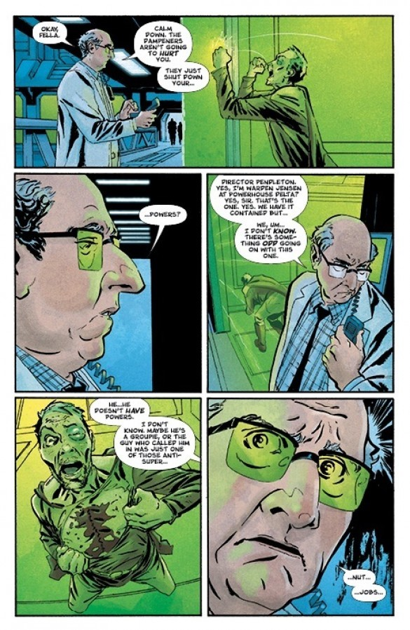 Review Crossover #5 Powerless Image Comics Reviews DC Comics News