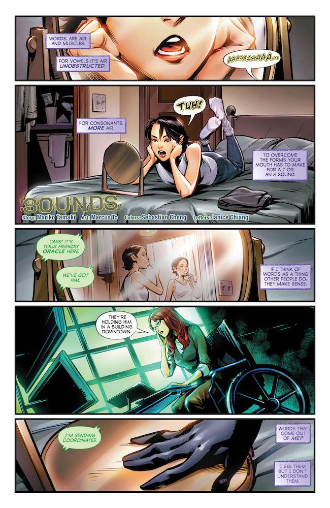 Cassie Practices Making Sounds DC Comics News