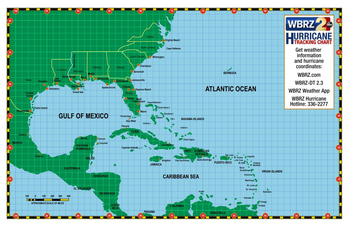 Top Printable Hurricane Tracking Maps
