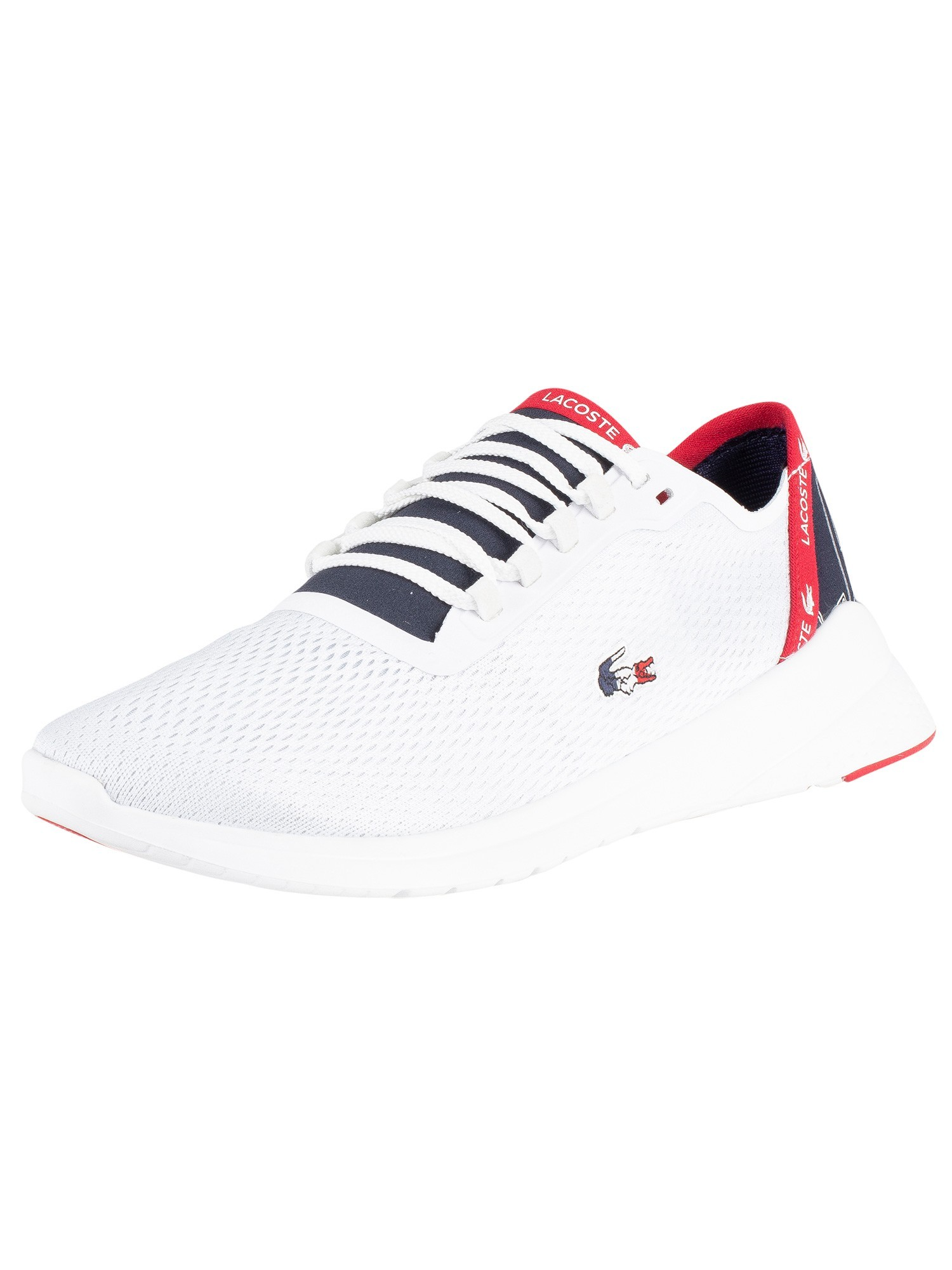 Lacoste White Navy Red Lt Fit 119 5 Sma Trainers