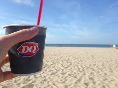 Being a good Midwestern girl, I always search out the nearest Dairy Queen for a Chocolate Xtreme Blizzard. DQ on the Beach: Things get not get more perfect.