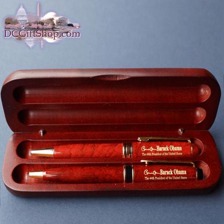 Commemorative Obama Wooden Pen Set | Graduation - Washington DC Gift ...