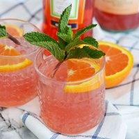 Blood Orange Mint Aperol Spritzer