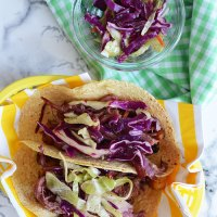 Corned Beef and Cabbage Slaw Tacos