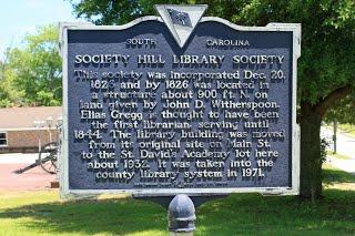 Society Hill Library Society Historical Marker (Front)