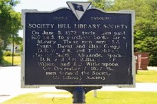 Society Hill Library Society Historical Marker (Back)