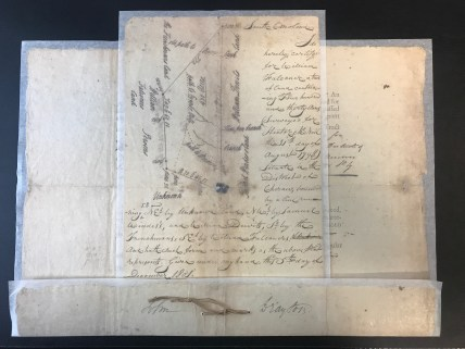Land Grant for William Falconer - 1801