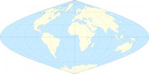Sinusoidal world map