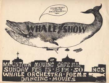 Flyer for The Whale Show, 1976
