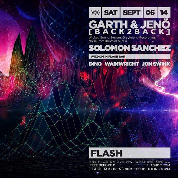 SAT Sept 6 | Garth & Jenö Back 2 Back, Solomon Sanchez at Flash