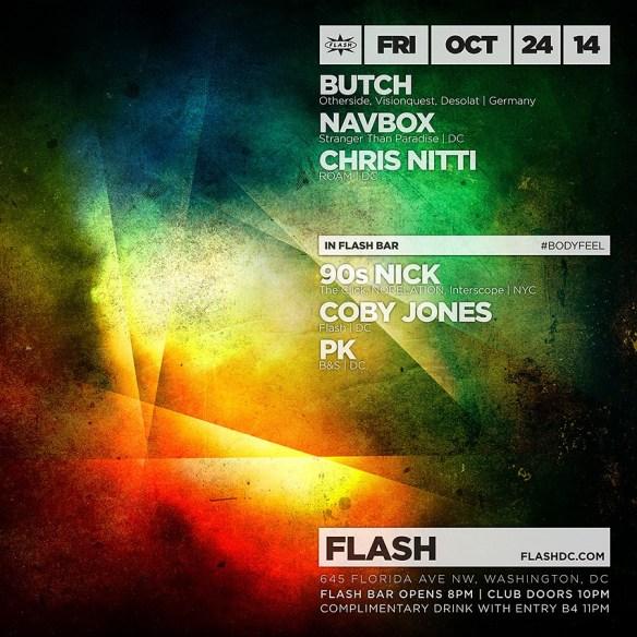 Butch, Navbox, Chris Nitti, #Bodyfeel (90s Nick, Coby Jones, PK) at Flash