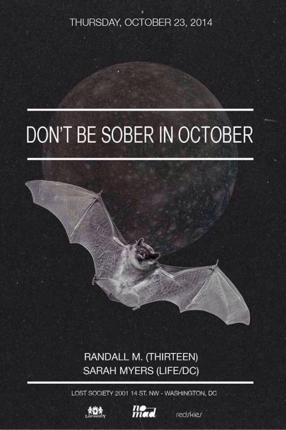 Lost on Thursdays: Don't Be Sober In October feat. Randall M. (tINI and the gang)  & Sarah Myers at Lost Society