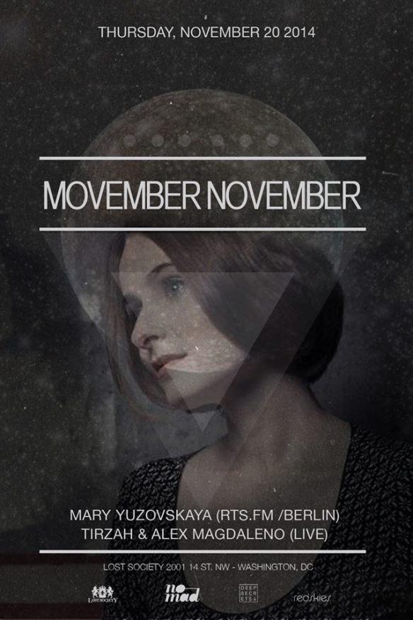 Lost on Thursdays: Movember November with Mary Yuzovskaya, Tirzah & Alex Magdelano (live) at Lost Society