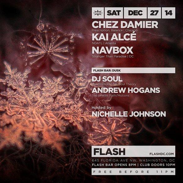 Back 2 Basics with Chez Damier, Kai Alce, Navbox, and Dusk at Flash