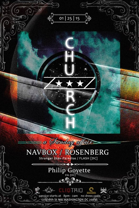 Church Presents A Night With Flash - Navbox, Rosenberg & Philip Goyette at Public Bar