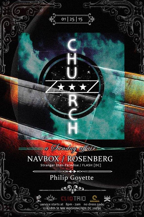 Church Presents A Night With Flash - Navbox, Rosenberg & Philip Goyette at Public Bar
