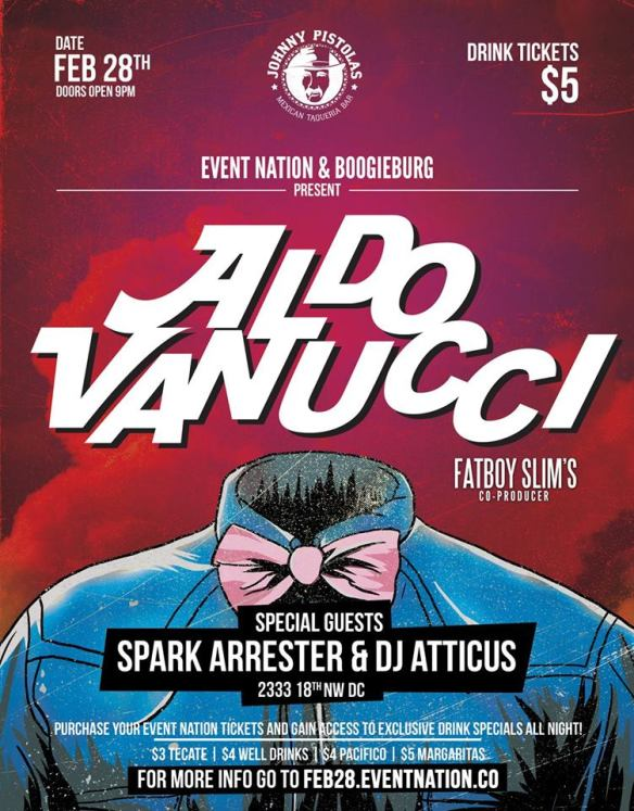 Aldo Vannucci w/Spark Arrester & DJ Atticus at Johnny Pistolas