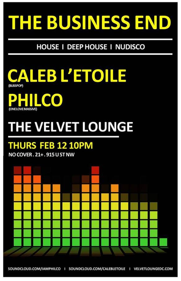 The Business End with Caleb L'Etoile & Philco at Velvet Lounge