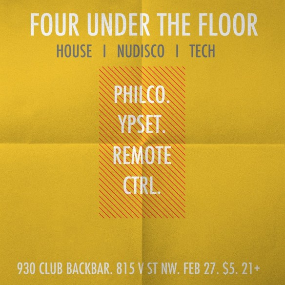 Four Under the Floor with Philco, Ypset and Remote Ctrl at Backbar
