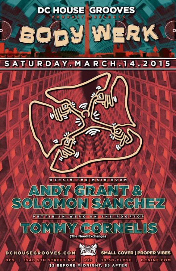 BODY WERK with Solomon Sanchez, Andy Grant and Tommy Cornelis at DC9 Nightclub
