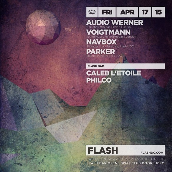 Audio Werner  & Voigtmann, Navbox, Parker at Flash, with  Caleb L'Etoile and Philco in the Flash Bar