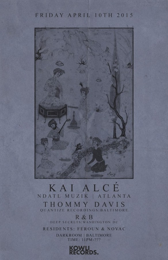 Kowli Presents: Kai Alce' ,Thommy Davis,& R&B at The Dark Room, Baltimore
