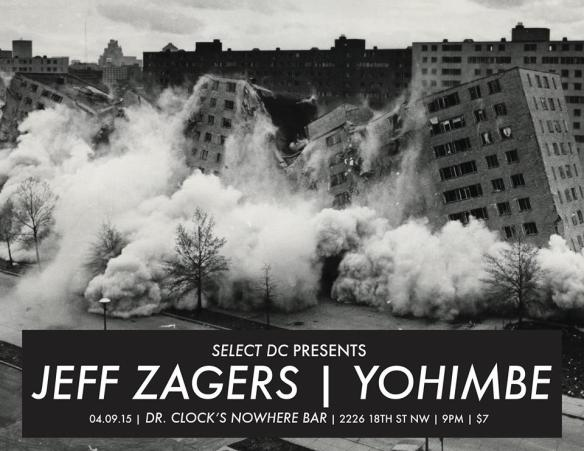 Select DC Presents Jeff Zagers, Yohimbe & The Shouts From The Sea at Dr. Clock's Nowhere Bar