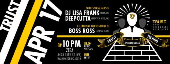 Trust at Zeba Presents DJ Lisa Frank, Deepcutta & Boss Ross at Zeba Bar