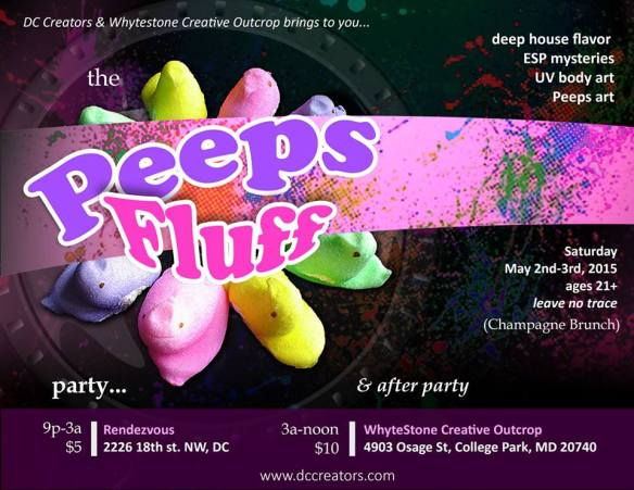 """Peeps Fluff"" party with DJ Daryl Climat Northrop, Chris Lewis & Wizdom at Dr. Clock's Nowhere Bar"