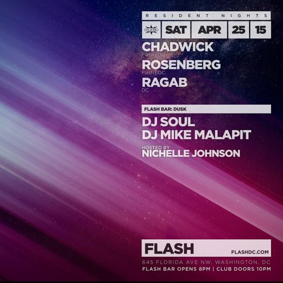 Resident Nights: Chadwick, Rosenberg and Ragab at Flash, with Dusk in the Flash Bar