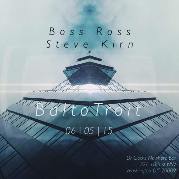 BaltoTroit with Boss Ross and Steve Kirn at Dr. Clock's Nowhere Bar