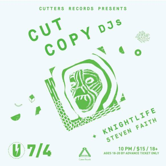 Cut Copy DJs with Knightlife and Steven Faith at U Street Music Hall