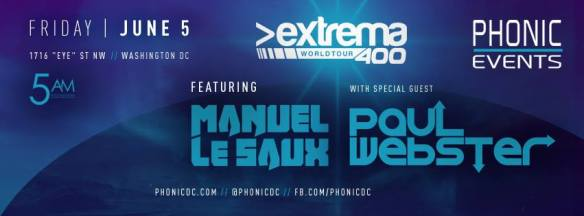 Phonic presents Extrema 400 feat. Manuel le Saux and Paul Webster at Phonic