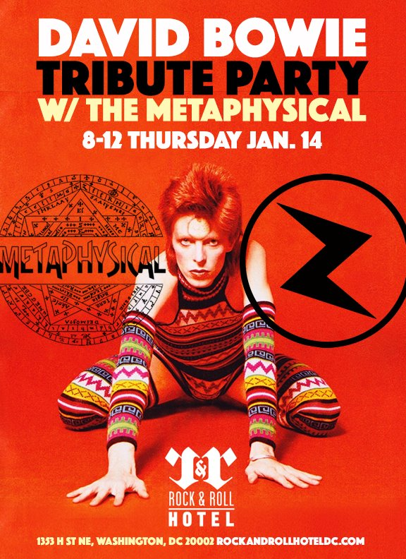 David Bowie Tribute with The Metaphysical at the Rock and Roll Hotel