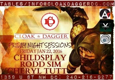 Friday Night Sessions with Childsplay, Rodd Sim and Cheryl Tutt at Cloak & Dagger