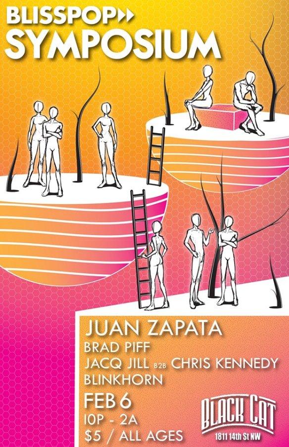 Blisspop Symposium with Juan Zapata, Brad Piff, Chris Kennedy & Blinkhorn at Black Cat