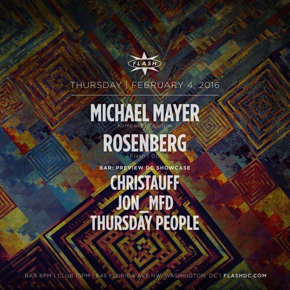 Michael Mayer (Kompakt) and Rosenberg at Flash