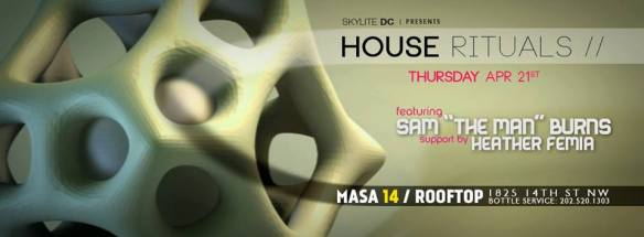 """House Rituals with Sam """"The Man"""" Burns and Heather Femia at Masa 14"""