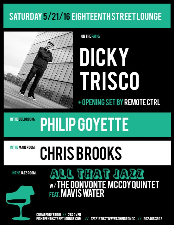 ESL Saturday with Dicky Trisco, Remote Ctrl, Philip Goyette and Chris Brooks at Eighteenth Street Lounge
