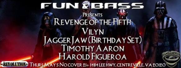 Fun & Bass Revenge of the Fifth at Revolution Darts & Billiards, Centerville