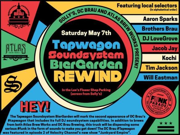 Tapwagon Soundsystem Biergarden Rewind with Aaron Sparks, Brothers Brau, DJ LoveGrove, Jacob Jay, Kochi, Tim Jackson & Will Eastman
