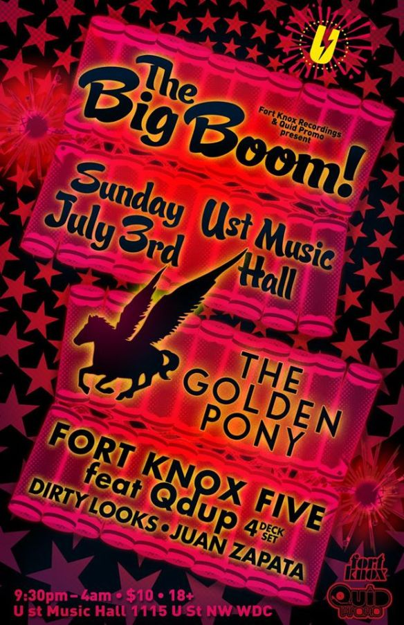 The Big Boom with The Golden Pony, Fort Knox Five feat. Qdup, Dirty Looks & Juan Zapata at U Street Music Hall