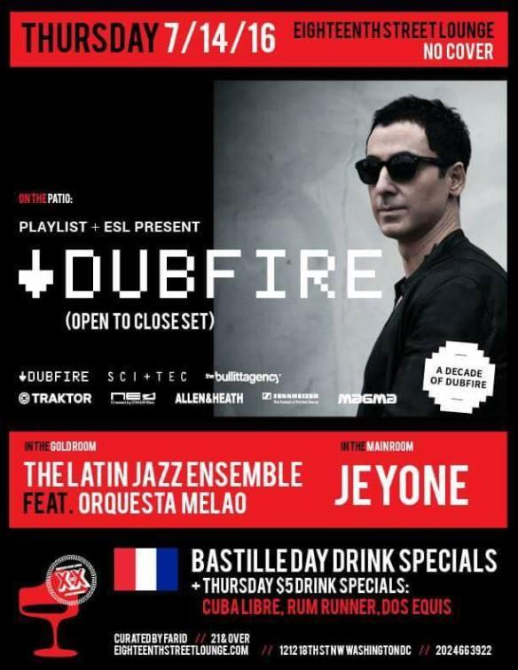Playlist presents Dubfire at Eighteenth Street Lounge