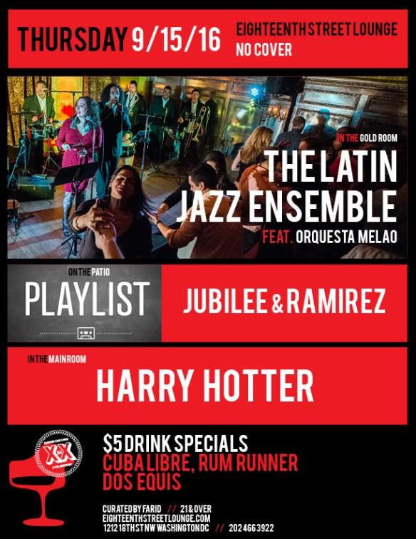 ESL Thursday with Harry Hotter & Playlist featuring Jubilee & Ramirez at Eighteenth Street Lounge